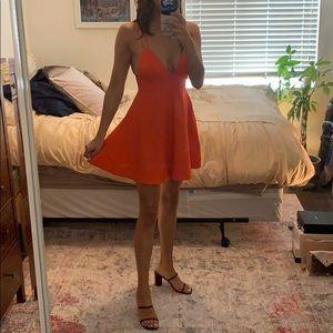 Bright Orange NBD mini dress